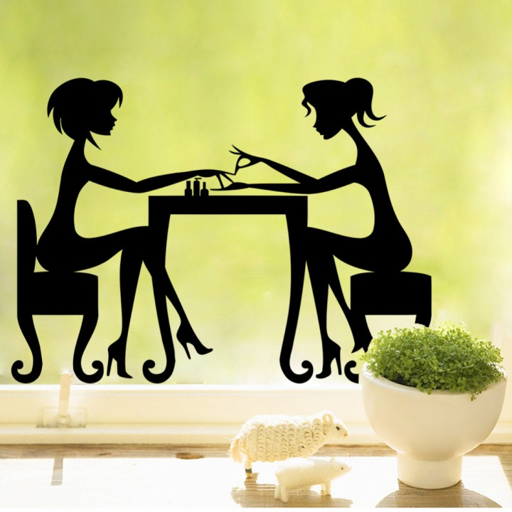 creative-black-friendship-home-decal-wall-sticker-removable-gift-for-girl-friend-wall-decor-3d-wallpaper